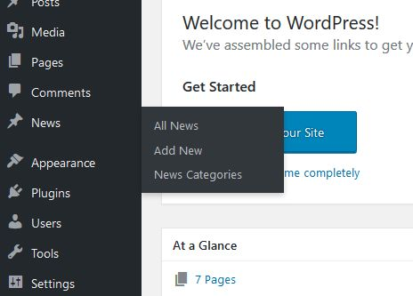 custom taxonomies in WordPress